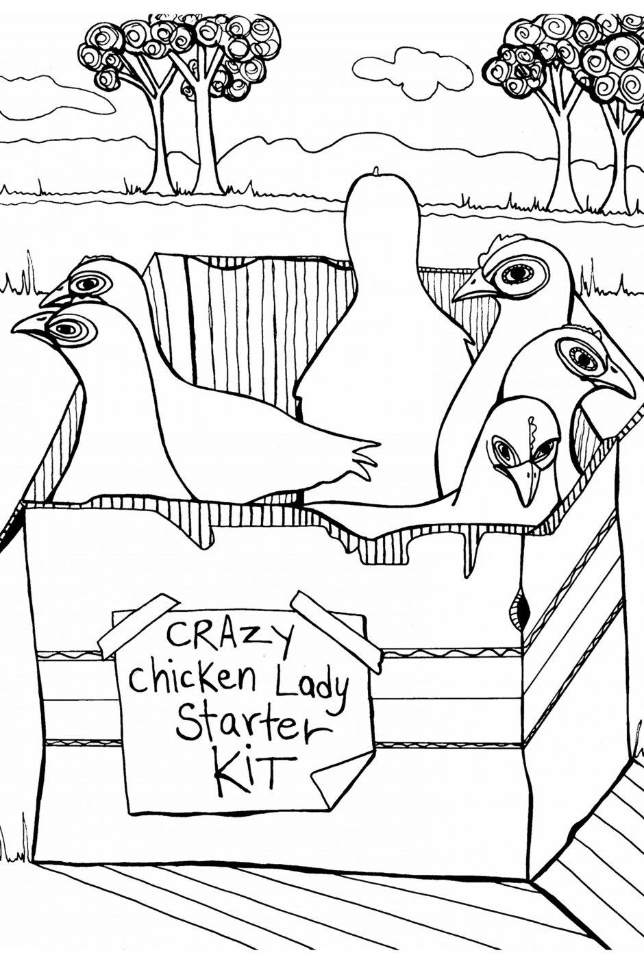 creative chicken coloring book