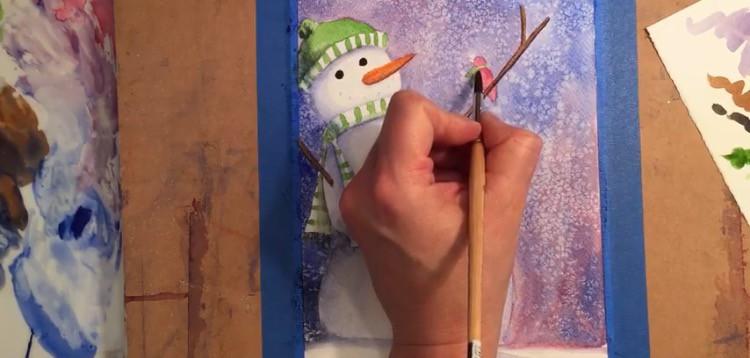 painting-snowman